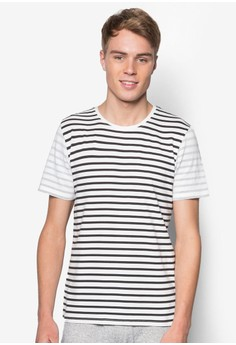 Stripe Tee With Reverse Stripe Print