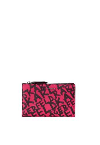 KARL LAGERFELD pink K/Ikon Graffiti Folded Ch 926E6AC5723078GS_1
