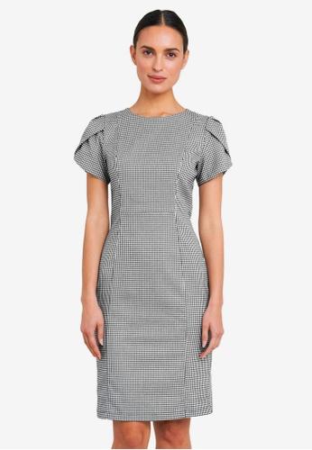 FORCAST black Diana Puff Sleeve Mini Dress 89204AAFEEAE3BGS_1