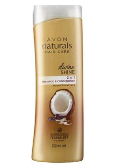 Avon Naturals Divine Shine Coconut And Acai Berry 2-In-1 Shampoo and Conditioner