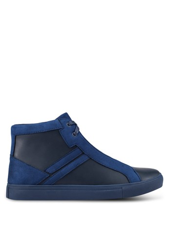ZALORA navy Contemporary High Top Sneakers D9F74SH3FCA45BGS_1