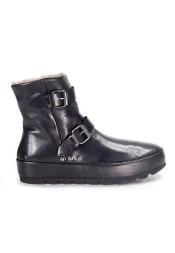 Shu Talk 黑色 XSA 輕巧舒適真皮短靴 4D05ESH8D0227DGS_1