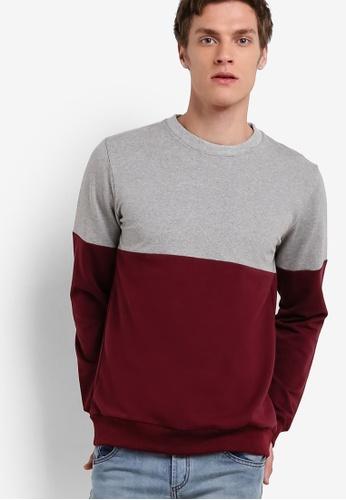 Murzaman grey Y & M Sweatshirt MU501AA08NJBMY_1