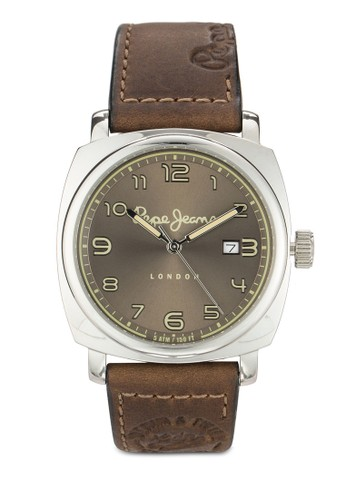 R2351111004 esprit 澳門Howard 皮革男性圓錶, 錶類, 飾品配件