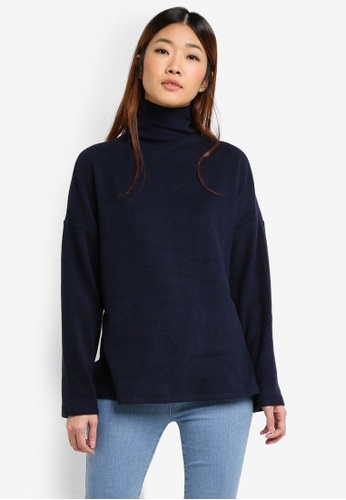 Something Borrowed navy Funnel Neck Sweater 1F82AAA08BC153GS_1