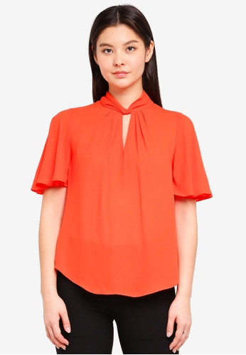 Dorothy Perkins red Red Hannah Flutter Tee 54479AADE69506GS_1