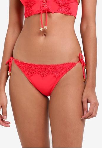 River Island red Lace Side Tie Bikini Bottom RI009US0RSCWMY_1