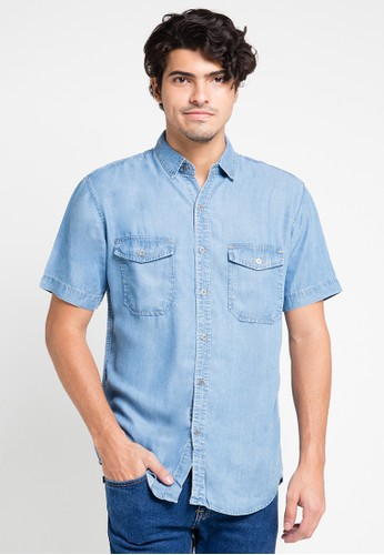 EDWIN blue Original Denim Shirt 205-11 ED179AA0URIDID_1