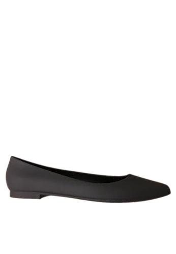 Twenty Eight Shoes 黑色 優雅輪廓果凍膠雨鞋 VR53 095D8SH47EC114GS_1