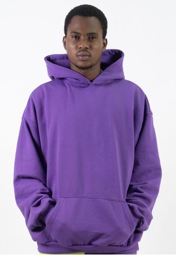 Ocwa Studio purple OCWA Basic Purple Men Hoodie 44AE4AA80AE033GS_1