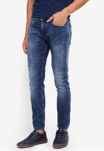 Burton Menswear London blue Mid Blue Ethan Super Skinny Fit Jeans E8FA2AA05A267BGS_1