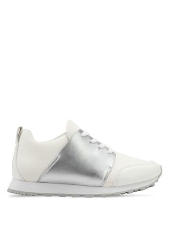 ZALORA white Pu Wrap Lace Up Sneakers 08BEASHDCA29D1GS_1