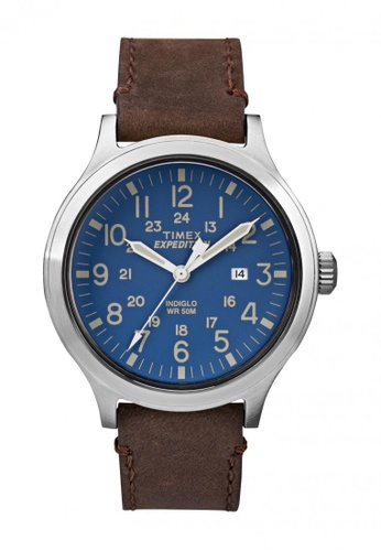 TIMEX brown Timex Expedition® Scout - 43 - Brown Leather Strap TI857AC50WLLSG_1
