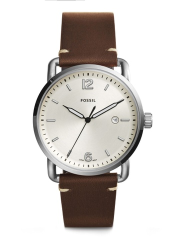 Fossil brown Fossil The Commuter 3-H Date FS5275 FO164AC0S0DZMY_1