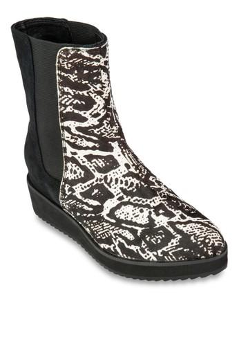 Leopard Print Bootsesprit手錶專櫃, 女鞋, 俏皮男孩風