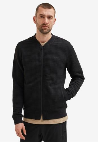 Selected Homme black Interlock Knit Cardigan 1734EAAC4EEBA6GS_1