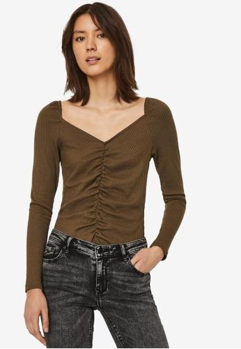 Vero Moda 褐色 Polly Top 25A6CAA96A28EBGS_1