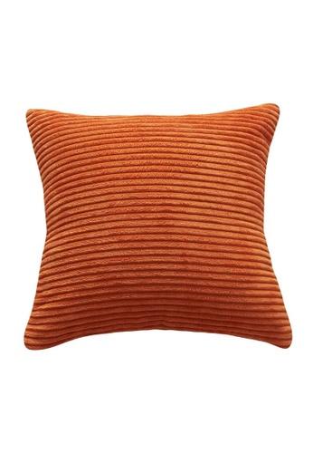 DILAS HOME Basic Corduroy Cushion Cover (Orange) 58CF4HL70B1D97GS_1