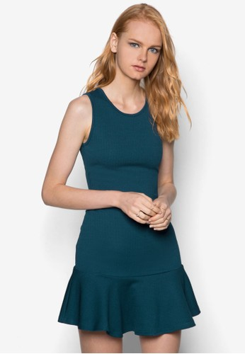 無袖荷葉擺連身裙, zalora開箱服飾, 派對洋裝