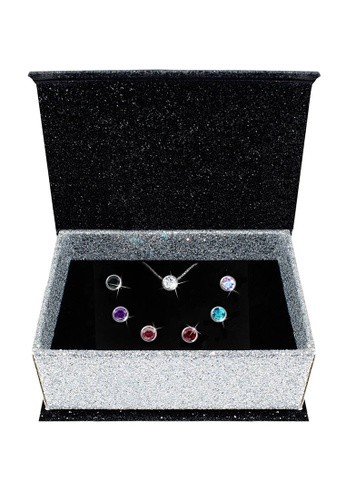 Her Jewellery multi Swarovski® Crystals - 7 Days Moon Pendants Set and and 7 Days Pendants Set Bundle (18K White Gold Plated) Her Jewellery HE581AC34JLXMY_1