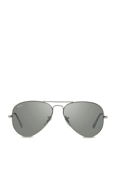 292ce9891 Ray-Ban grey Aviator Large Metal RB3025 Sunglasses RA370GL25SAWSG_1