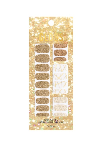 Dashing Diva gold Dashing Diva Gloss Gel Strip Manicure GLOSS Glory /Nail Sticker /Nail Wraps 13394BE82FE208GS_1