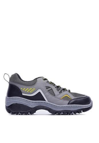 Life8 grey MIT Nylon Mesh Lightning Mountain Casual Shoes-09468-Grey LI283SH0FG0ZSG_1