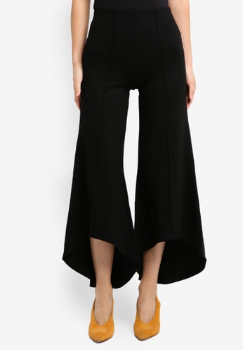 River Island black Olympia Pull On Flare Jersey Trouserblack RI009AA0SYMEMY_1