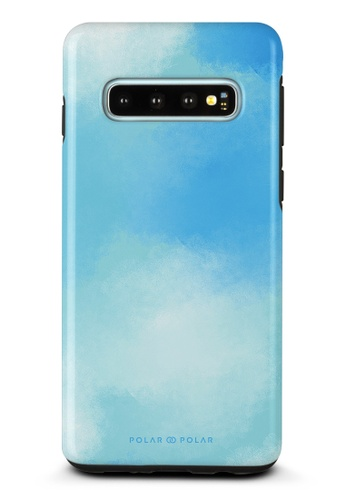 Polar Polar blue Clouds in Spring Samsung Galaxy S10 Dual-Layer Protective Phone Case (Glossy) BC54AACBCD8BABGS_1