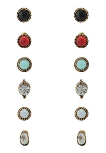 esprit 衣服Haakon 六入耳環, 飾品配件, 飾品配件