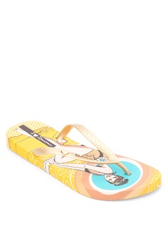 I Love Retro Flip Flops