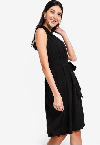 ZALORA black Wrap Dress 219A8AAD88BA92GS_1