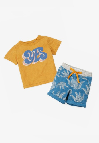 Gingersnaps multi Baby Boys Summer Tshirt And Shorts Set FE59FKA238D37CGS_1