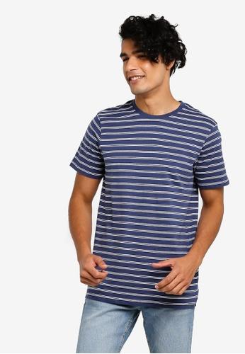 Cotton On 多色 對比滿版條紋T恤 98B69AA7B1DE65GS_1