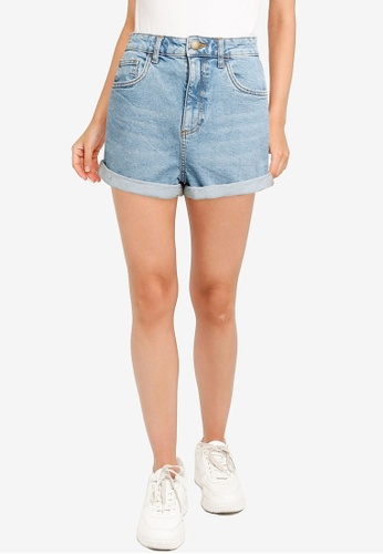 Cotton On blue High Rise Classic Stretch Denim Shorts D45A9AAD3A9409GS_1