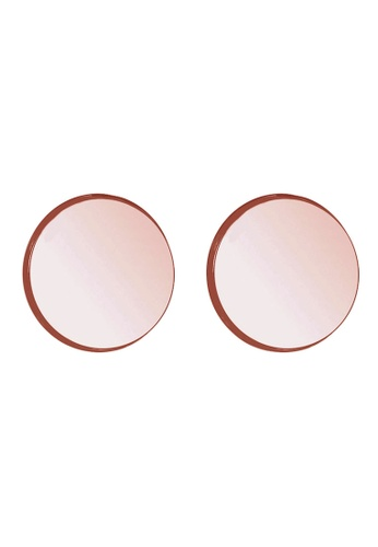 Elli Germany gold Elli Germany 925 Sterling Silver Rose Gold-Plated Basic Round Earrings EL474AC10PPPMY_1