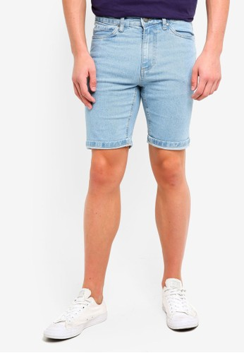 Factorie blue Tapered Denim Shorts 4326BAAD2E48B7GS_1