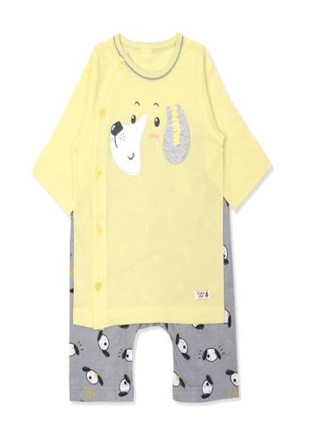 Organic mom yellow Organic Cotton Patrick Puppy Lightweight Middle Length Sleeves Pjs C5F09KA9D5FA41GS_1