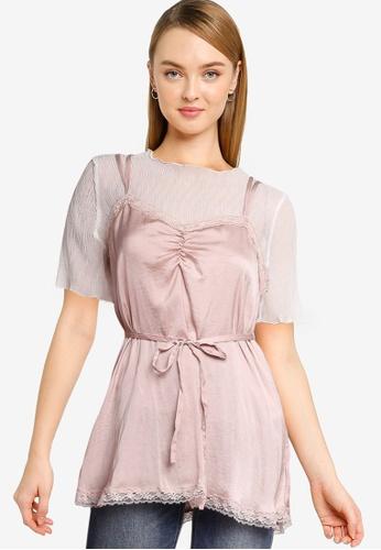 Heather pink Satin Camisole Set 8746DAA220A0D4GS_1