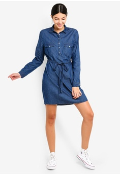 bb1bf63183 55% OFF Cotton On Woven Tammy Long Sleeve Shirt Dress S  39.95 NOW S  17.90  Sizes XXS XS S M L