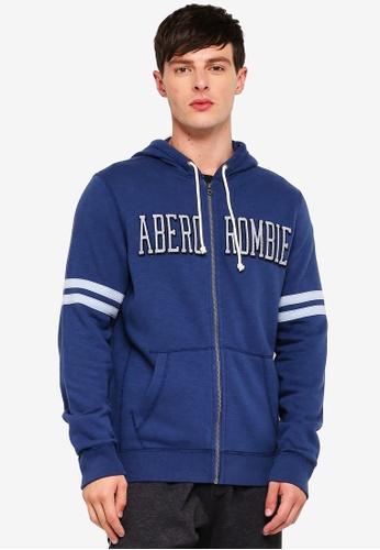 Abercrombie & Fitch 藍色 LOGO連帽外套 6FC47AA9317B1FGS_1