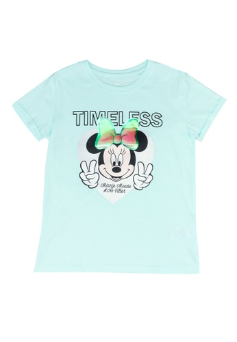 FOX Kids & Baby green Minnie Mouse Tee 394D3KA2F8D7A7GS_1