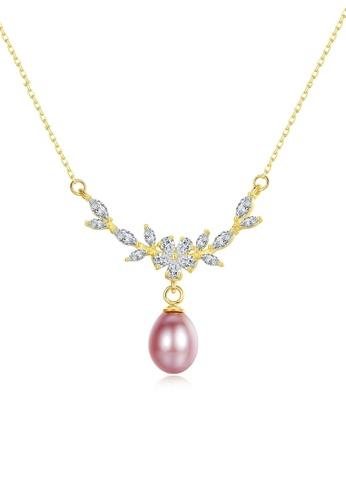 A.Excellence purple Premium Purple Pearl Elegant Necklace 1E935AC8936310GS_1