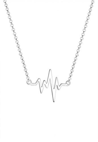 Elli Germany silver Perhiasan Wanita Perak Asli - Silver Kalung Heartbeat EL948AC90YQVID_1