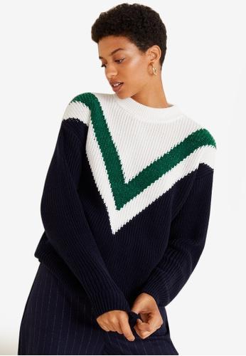 Mango multi Tricolor Cotton Sweater FD499AA477D80EGS_1