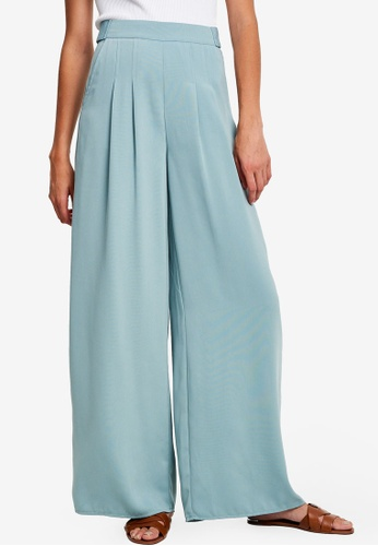 Willa blue Prince Wide Leg Pants A65F9AA4BE49C0GS_1