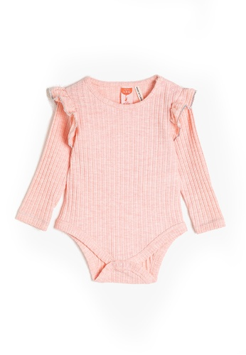 KOTON pink Ruffle Bodysuit DADF6KA362688FGS_1