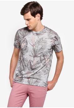 c9abe8e3c5 Burton Menswear London green Green Texture Floral Print T-Shirt  2EB6FAA962B76AGS_1