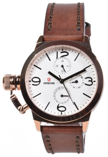 Expedition brown Expedition - Jam Tangan Wanita - Rosegold - Brown Leather Strap - 6339BFLRGSL 0AD72ACAE88530GS_1