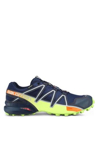 Salomon blue Speedcross 4 Gtx Shoes 7305DSH8E2253BGS_1